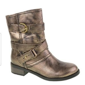 Dirty Laundry Grunge Show Pony Booties Rose Gold